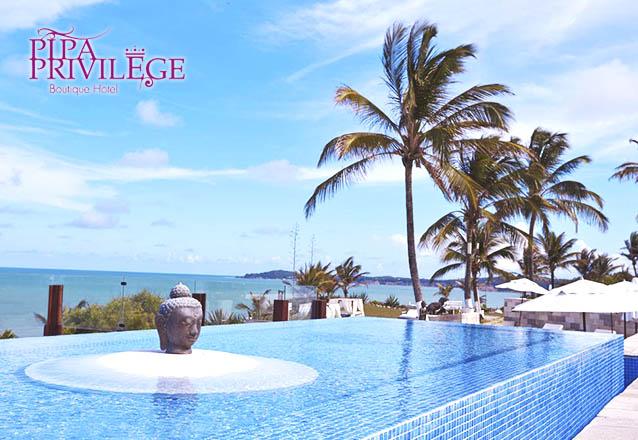 O resort inesquecível no meio do paraíso! 2 diárias para 2 pessoas e 1 criança em lindo bangalô com Meia-Pensão (café da manhã e almoço) por R$899 no Pipa Privilege Boutique & Resort