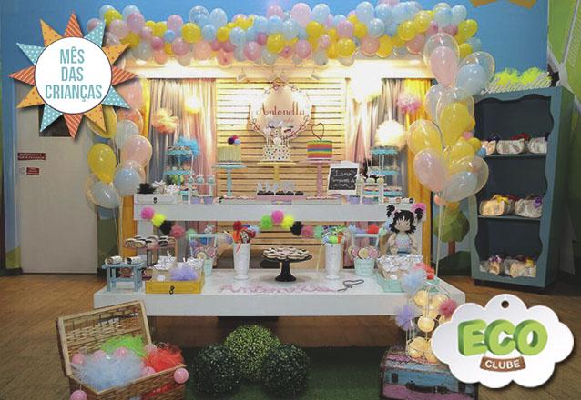 Pacote Bosque Encantado para festa do seu filho! 2h de Festa Completa para 25 pessoas por R$2.300 no Eco Clube - Shopping Rio Mar