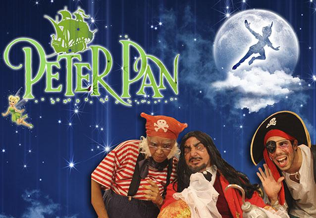 """Uma história que encanta toda criançada! Ingresso Inteira Plateia Livre para o espetáculo infantil """"Peter Pan"""" no Theatro Via Sul de R$20 por apenas R$8"""
