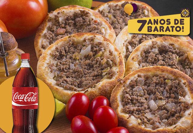 Combinação mais que maravilhosa! 10 Esfihas + Coca Cola de 600ml de R$44 por apenas R$13,90 no Shake Pizza. Válido para Delivery!