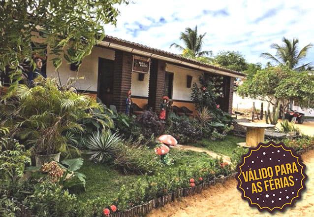 O melhor lugar para sua folga! 2 diárias com café da manhã para 2 pessoas de R$400 por R$260 na Pousada Maria Bonita, em Jericoacoara