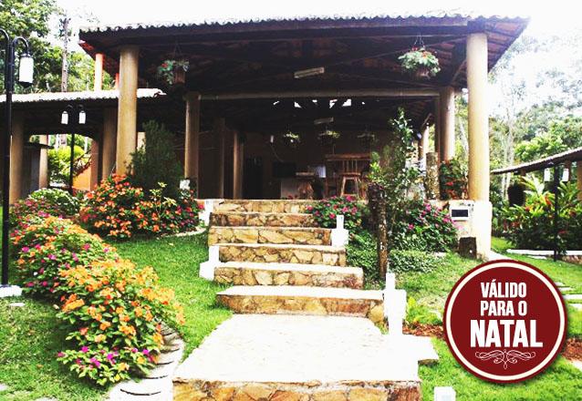 Relâmpago para o Natal! 3 diárias para até 06 pessoas em chalé completo por R$999 no Chalé Cantinho das Flores, em Guaramiranga