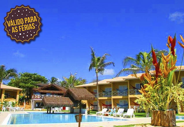 Precisando descansar? O Bouganville Hotel oferece todo o conforto que você merece! 2 diárias para casal e 1 criança + café da manhã por de R$399