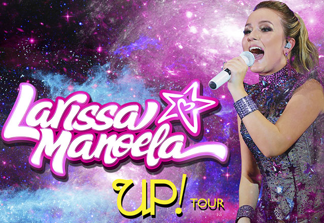 "Destaque teen! 1 Ingresso Inteira Cadeira Pista para o espetáculo ""UP TOUR! - Larissa Manoela"" no Estacionamento do Shopping Iguatemi por R$30. Nova data!"