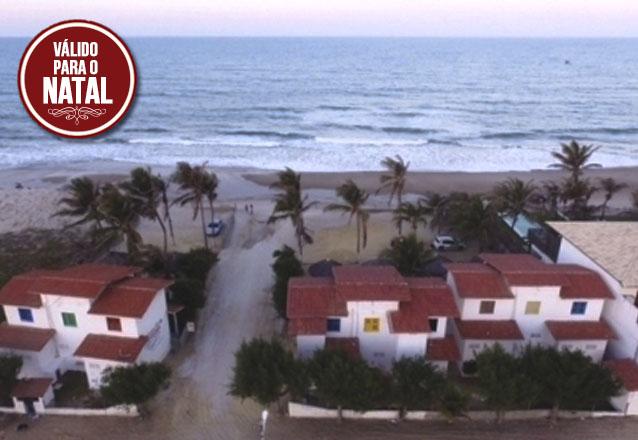 Feriado de Natal de frente pro mar no Chalés Marambaia da Praia de Uruaú! 2 diárias para até 6 pessoas por apenas R$349