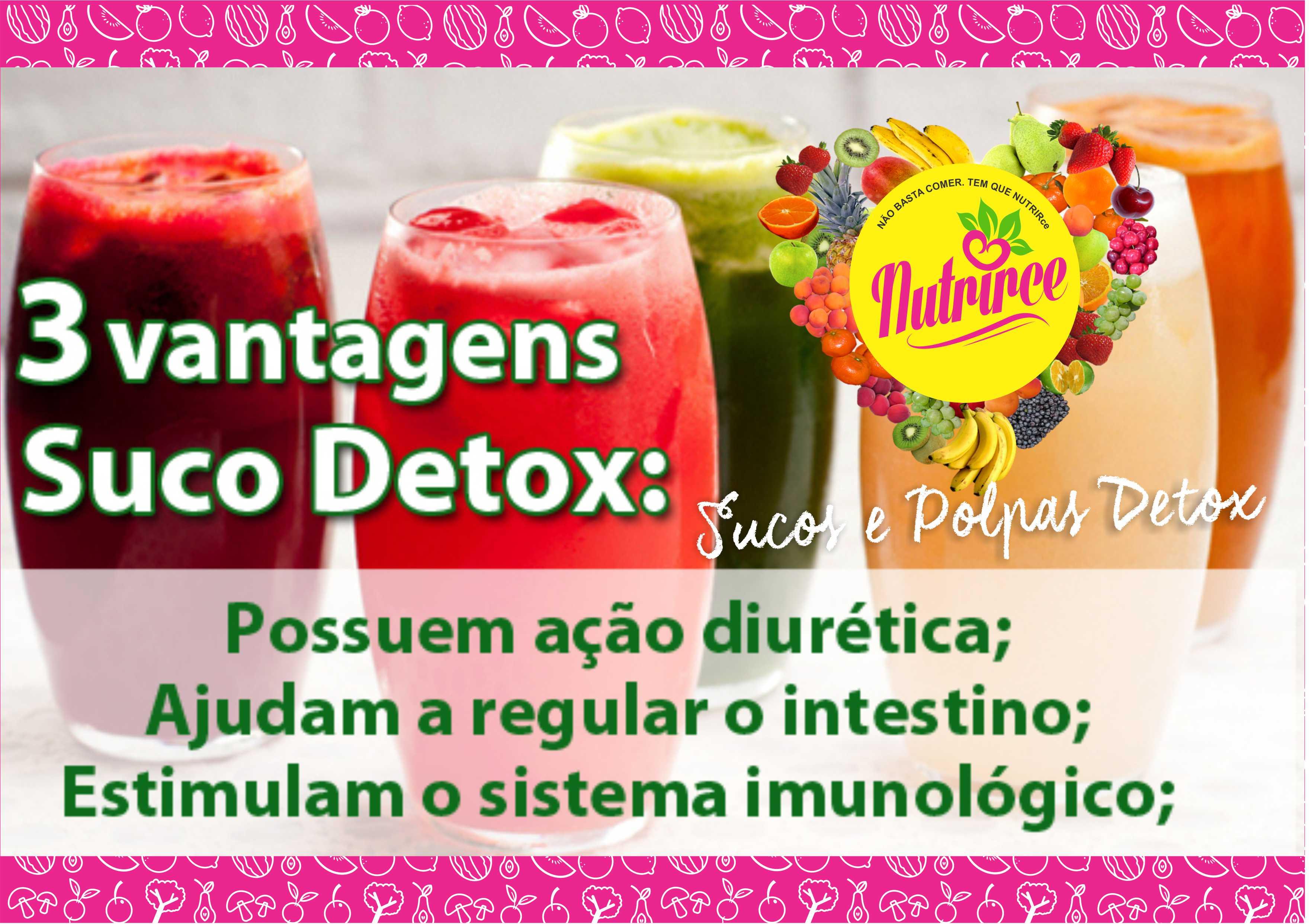 Pacote com 7 Sucos Detox de R$38,50 por R$35