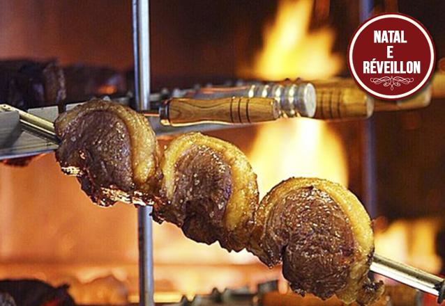 Ceia de Natal (24/12): Rodízio de Carnes + Buffet para 1 pessoa de R$59,90 por R$49,90