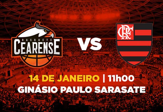Ingresso Cadeira Superior Inteira para Basquete Cearense x Flamengo de R$20 por R$9,99
