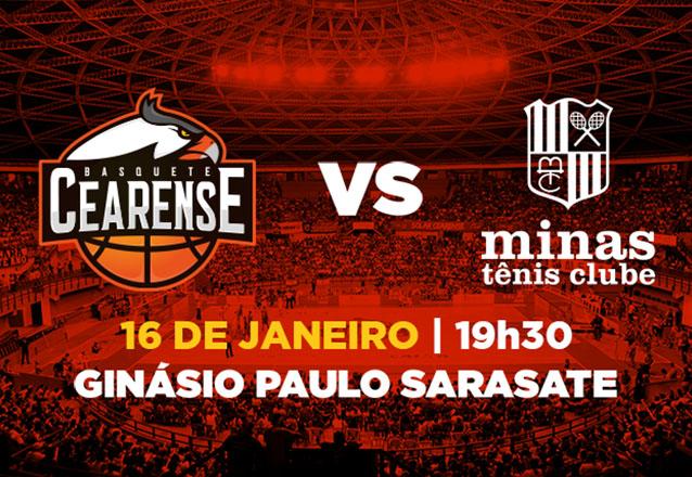 Ingresso Cadeira Superior Inteira para Basquete Cearense x Minas Tênis Clube de R$20 por R$9,99