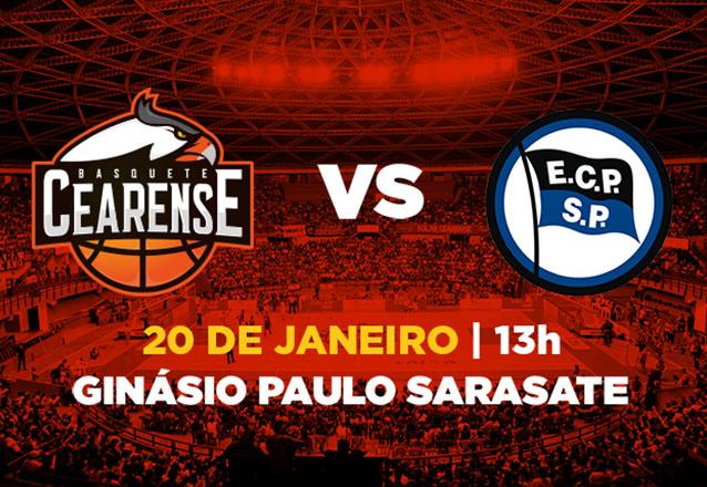 Ingresso Cadeira Superior Inteira para Basquete Cearense x Esporte Clube Pinheiros de R$20 por R$9,99