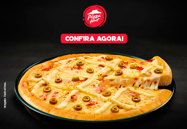 A pizza mais famosa do mundo! Pizza PAN 8 fatias + 1 Pizza pequena de Brigadeiro + 2 Refrigerantes Lata por R$69 na Pizza Hut Cocó
