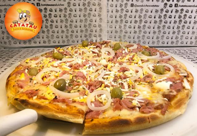 Para compartilhar com os amigos! 1 Pizza G (8 pedaços) diversos sabores de até R$30 por apenas R$19,90 no Catatau - Pontes Vieira. Válido para o Carnaval!