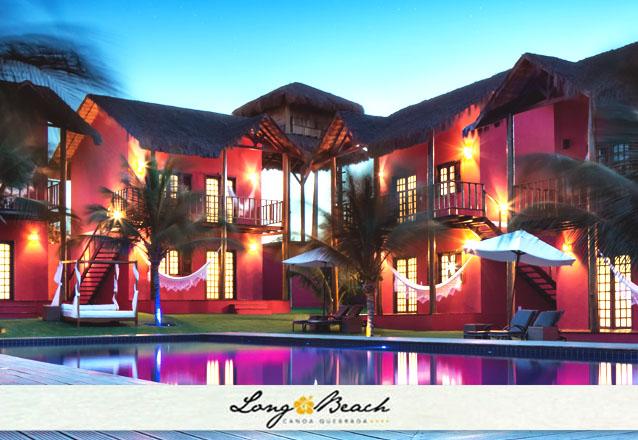 Cupons limitados para o final de semana no melhor hotel de Canoa! 2 diárias em apartamento vista piscina para casal + café da manhã por R$540 no Hotel Long Beach