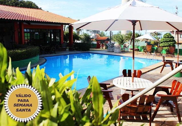 A Semana Santa pede Cumbuco! 3 diárias para casal e 1 criança de ate 7 anos + café da manhã + 1 Almoço por R$840 no Hotel Terra do Sol