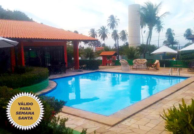 Day Use no Hotel Terra do Sol na Semana Santa! Almoço para até 3 pessoas + Música ao vivo + Acesso a Piscina para 2 pessoas por R$85