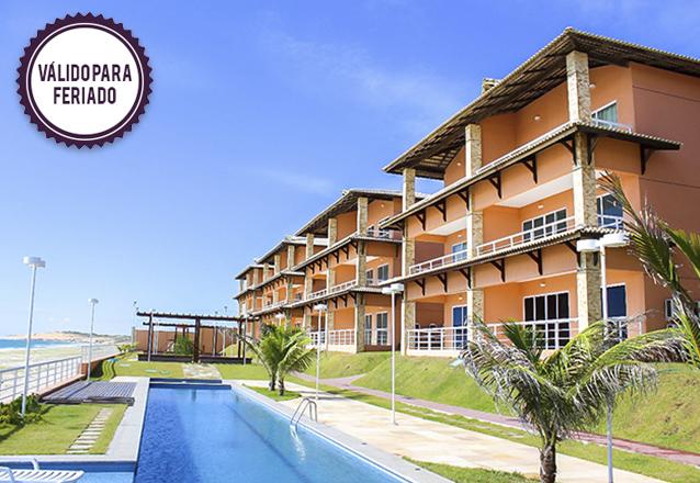 Feriado curtindo o Dream Away Uruaú Beach Residences! 3 diárias para 4 pessoas em Apartamento Mobiliado por R$999 em até 4x sem Juros!