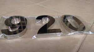 Números Residenciais em Aço Inox! 01 unidade de 15cm de Número em aço inox 430 + Manual de instalação por R$19,99 na Letraço Comunicação Visual