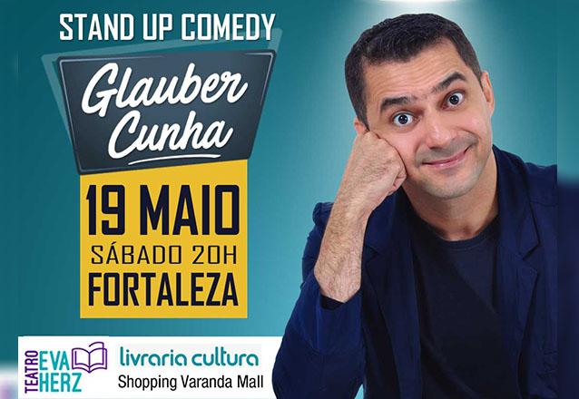 Divirta-se! Ingresso Inteira para o espetáculo de Stand Up Comedy com Glauber Cunha por apenas R$14,99 no Teatro da Livraria Cultura