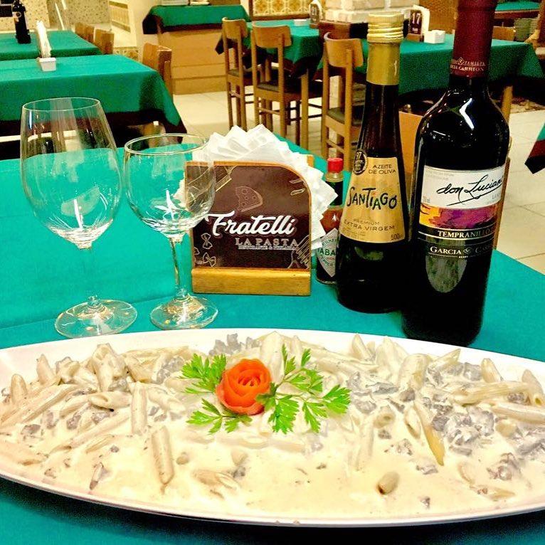 Um rodízio de massas de dar água na boca! Rodízio de Massas, Pizzas e Sobremesas para 1 pessoa por R$27,90 no Fratelli La Pasta