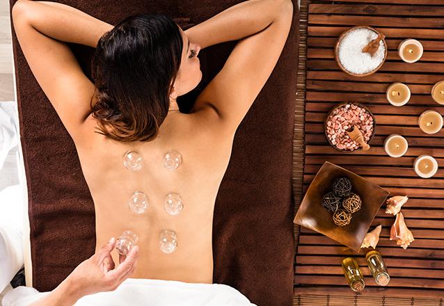 Mantenha-se relaxado! 1 Sessão de Ventosaterapia + Avaliação contra estresse, insônia, dores musculares e relaxamento por apenas R$44