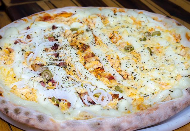 Pizza Grande + Borda recheada de R$34 por apenas R$19,90. Válido para Delivery!