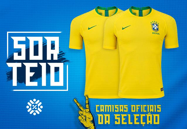 6d3d0c35a1 Você vai torcer pelo Brasil na Copa de 2018 vestindo a Camisa Oficial!  SORTEIO