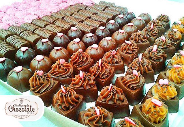 100 chocolates + 20 sanduíches de brigadeiro de R$170 por R$110