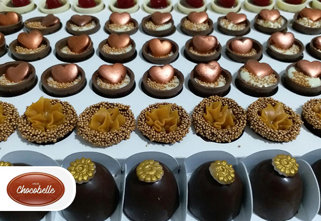 50 chocolates (até 2 sabores) de R$80 por R$69,90