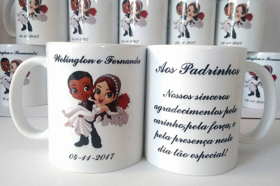 Personalize sua festa! Kit com 10 canecas personalizadas de R$220 por apenas R$169,90 na MG Brindes