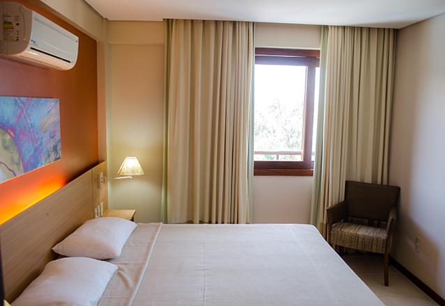 1 diária (Check-in Domingo a Sexta) em apartamento standard para 2 adultos e 1 criança de até 6 anos + café da manhã por R$285