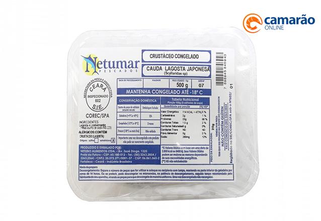 Qualidade do Camarão Online! Lagosta Japonesa Cauda Congelada - 500g (Netumar) por apenas R$49,99