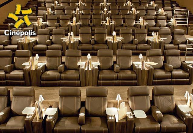 Sala VIP da Cinépolis com desconto! 01 Ingresso Inteira Sala VIP ou Imax de segunda a quinta em filmes 2D por R$34,99. Válido para Cinépolis do Shopping Rio Mar ou North Shopping Joquei!