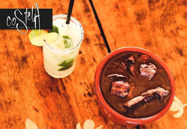 Sábado com feijoada no Costela Sul! Buffet Livre de Feijoada para 1 pessoa + Welcome Drink + Caipirinha de R$29 por apenas R$24,90