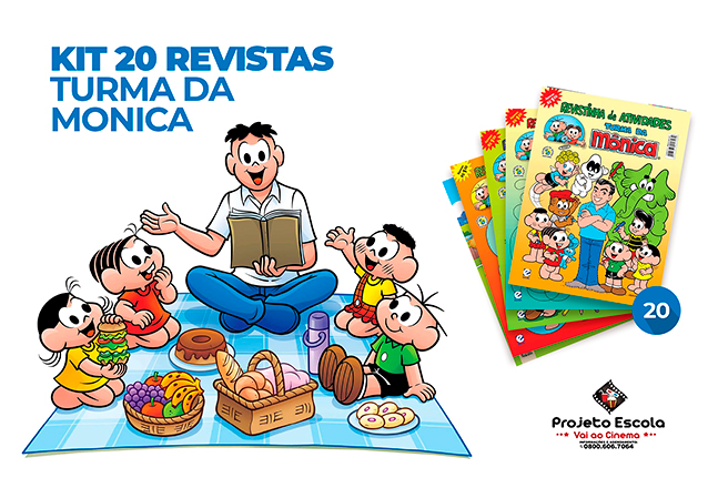Para divertir a criançada essa super oferta! 20 Revistinhas da Turma da Mônica de colorir e atividades de R$20 por apenas R$9,90 no Projeto Escola