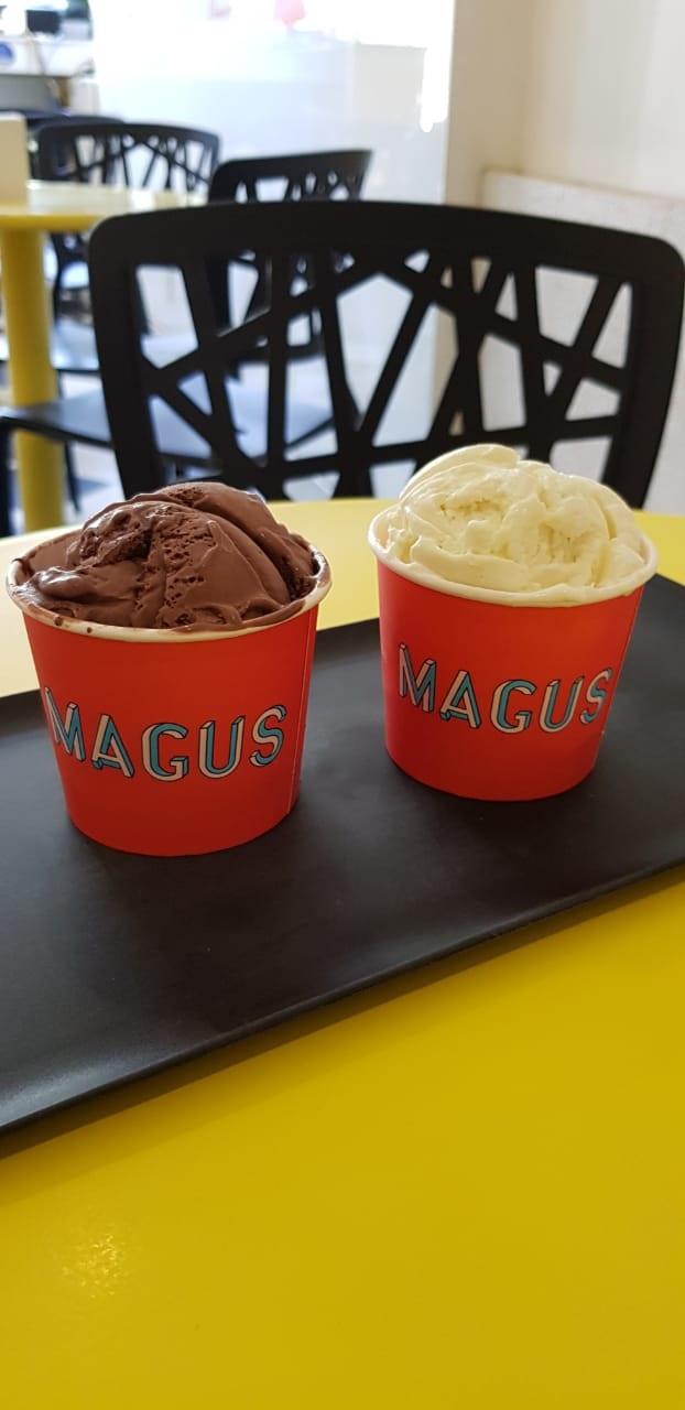 Especial Aniversário de 8 anos do Barato! Gelato de Leite ou Chocolate de R$12 por apenas R$4,99 na Magus - Ana Bilhar