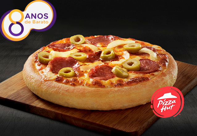 Pizza Pan Individual (Calabresa ou Mussarela) na Pizza Hut do Shopping Iguatemi - Piso Térreo por R$6,99