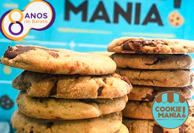 O Cookie que é um fenômeno de vendas e a CARA do aniversário do Barato: Cookie Clássico de Chocolate de R$4,70 por apenas R$2,90 na Cookie Mania. Válido para loja Varjota ou Sul!