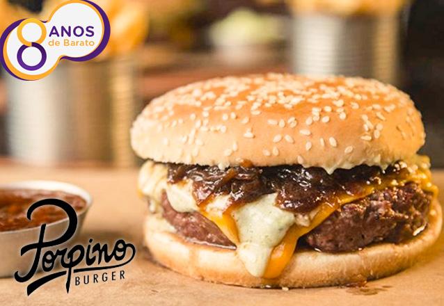 Eleito o melhor Hambúrguer pela Veja Comer & Beber de 2017, agora está no Barato! The Classic Burger ou Blue Cheeseburger de até R$22,90 por apenas R$16,50 no Porpino. Válido para loja Meireles ou Iguatemi!