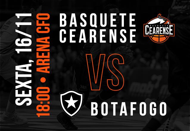 Basquete Cearense X Botafogo: Ingresso Cadeira Superior Inteira de R$20 por R$9,99