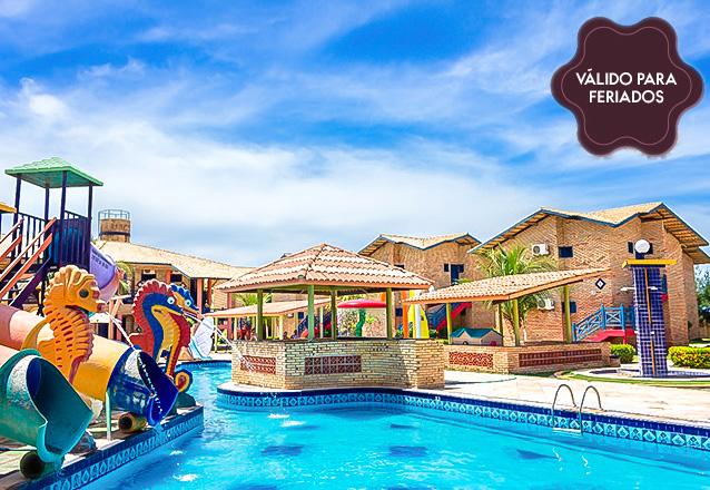 Feriado é no Parajuru Praia Hotel! 2 diárias (sexta a domingo) em apartamento para 2 adultos e 1 criança de até 12 anos + café da manhã por apenas R$339