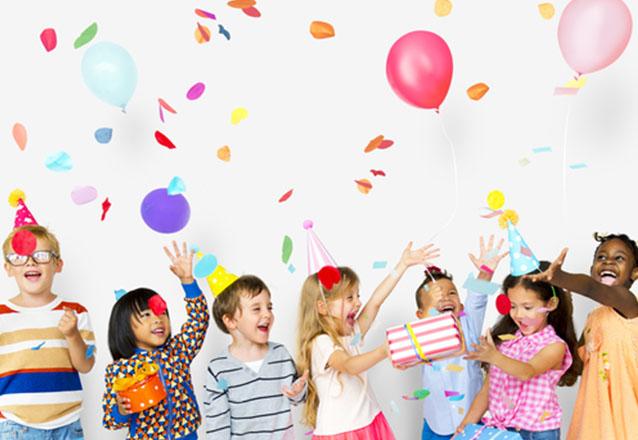 Festa Infantil especial com a JF Giardino Buffet! Pacote para 4 horas de Festa infantil com Decoração, Comidas e Equipe para 70 pessoas de R$3.200 por apenas R$2.700