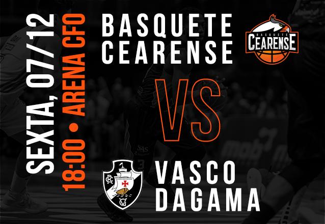Basquete Cearense X Vasco da Gama: Ingresso Cadeira Superior Inteira de R$20 por R$9,99
