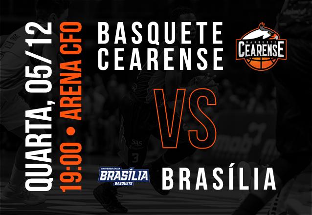 Basquete Cearense X Brasília: Ingresso Cadeira Superior Inteira de R$20 por R$9,99