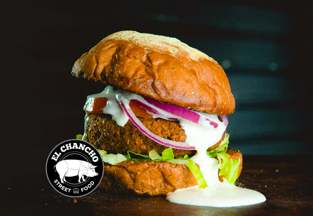 O premiado El Chancho! Cheesebuger, Burger de Falafel ou Pulled Pork de até R$24 por apenas R$15,90. Considerado a melhor hamburgueria de 2018/19 pela Veja Comer e Beber!