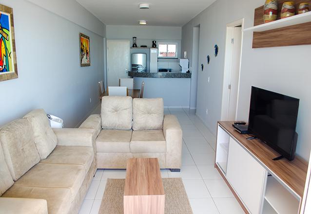 1 diária (check-in domingo a quinta) em apartamento mobiliado para casal e 1 criança de até 10 anos de R$410 por R$219
