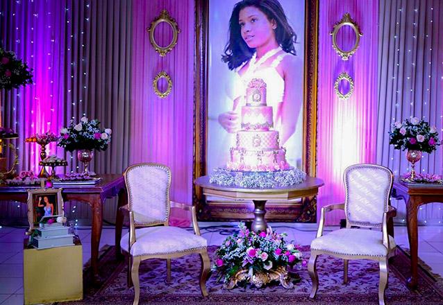 A festa de 15 anos dos sonhos! Pacote para festa de 15 anos para 100 convidados na JF Giardino Buffet de R$8.000 por apenas R$5.400