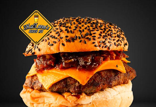 De volta no Barato: MacLaren's Burger Pub! Yellow Burger ou Cheesebacon de R$19,90 por apenas R$14,90