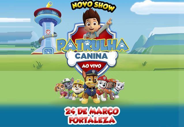 Pela primeira vez em Fortaleza! Novo espetáculo da turma de cachorrinhos mais amada do Brasil! Ingresso Inteira para o novo Show do Patrulha Canina ao vivo no Teatro Ibeu-Ce de R$60 por apenas R$27
