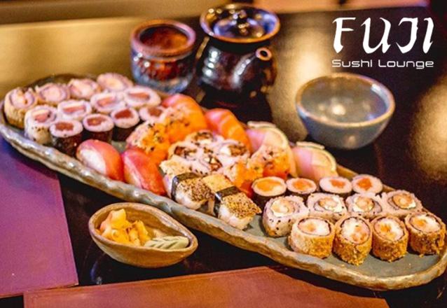 RELÂMPAGO: 01 Combinado de 12 peças de Sushis Tradicionais no Fuji Sushi Lounge de R$33 por apenas R$23,90