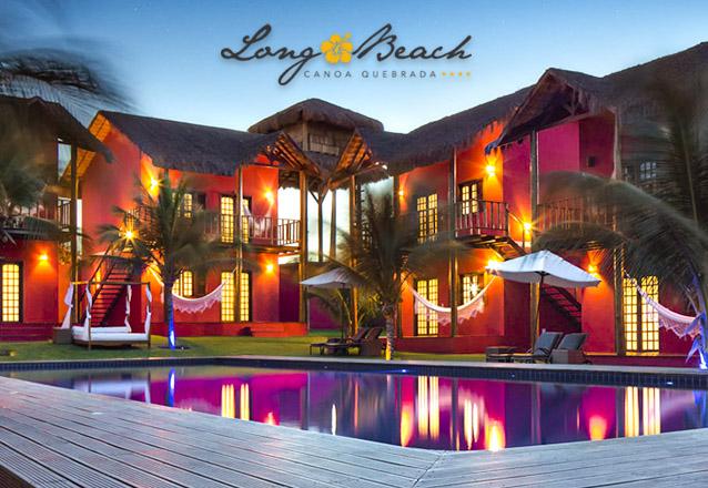 Você pode curtir o Hotel Long Beach já! 2 diárias em suíte Standard para 2 adultos + café da manhã de R$572 por R$290 em Canoa Quebrada. Use até 2019!